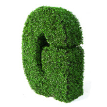 Artificial Topiary Artificial Topiary Letter