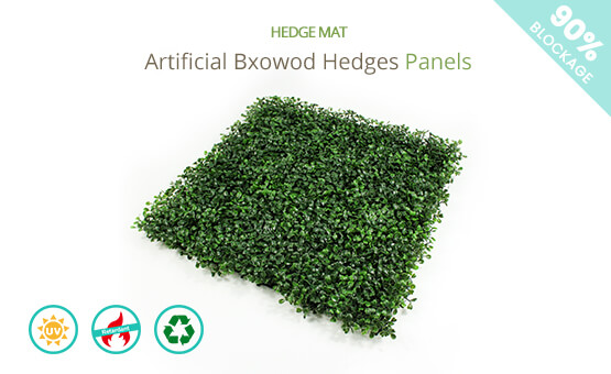 artificial boxwood hedges panels