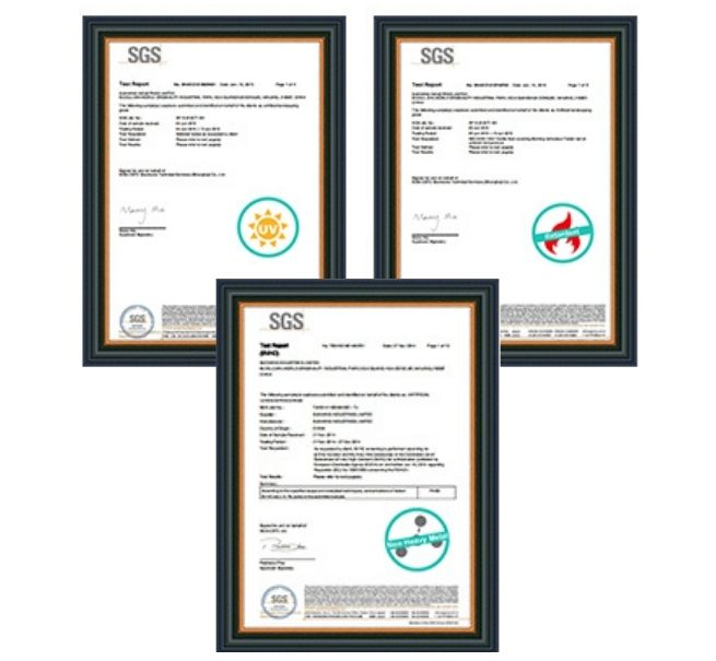 artificial grass certificates