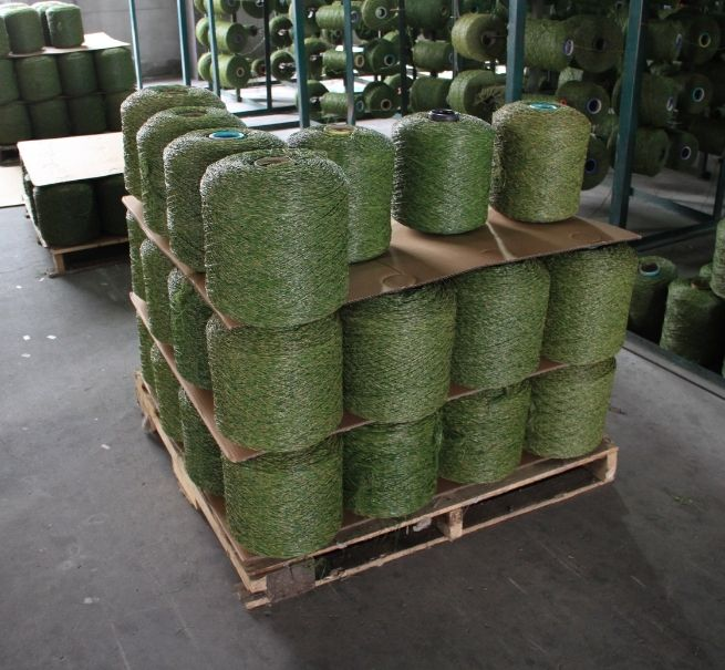 artificial sports grass in mass production