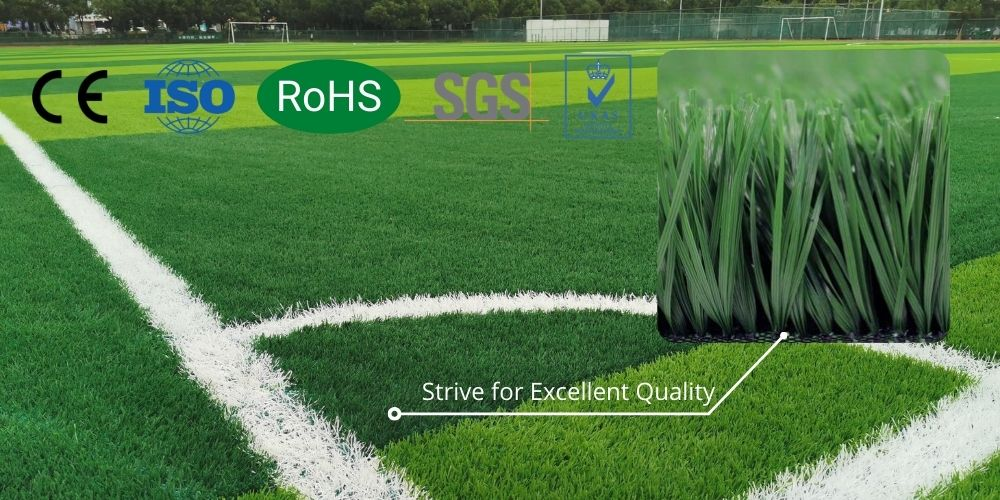 artificial turf feature