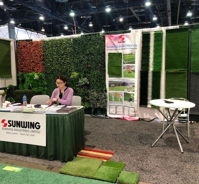 faux grass exhibition