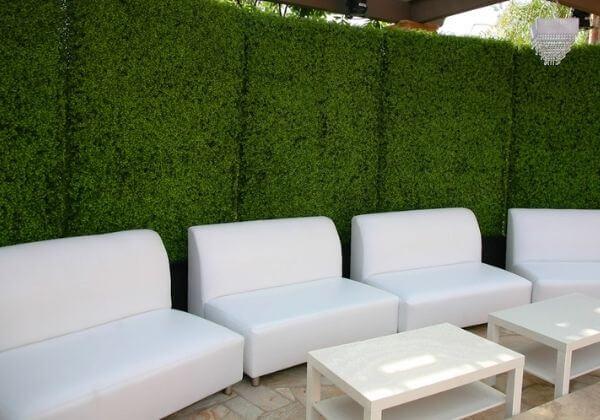 artificial hedge planter for patio