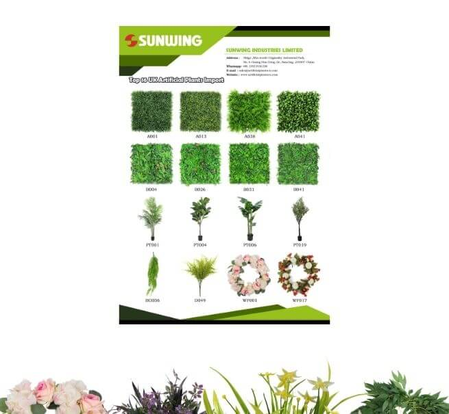 UK Artificial Plants Import Catalog