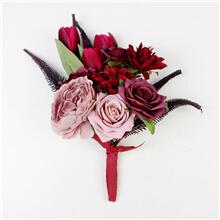 Faux Flower Bridal Bouquet FS-10