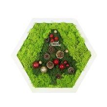 Christmas Reindeer Moss Frame