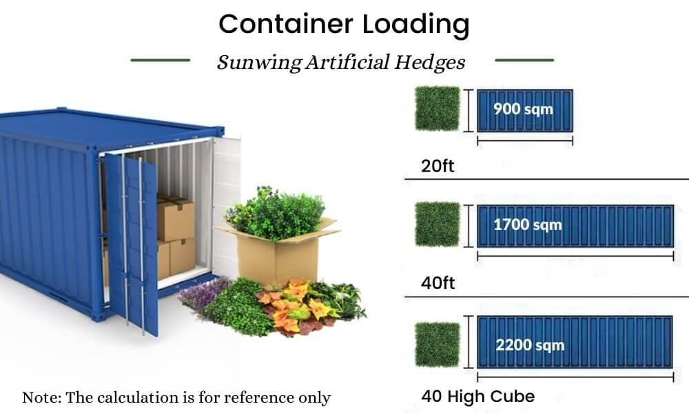 sunwing artificial hedges