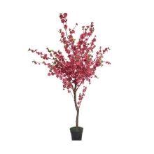 small peach flower tree