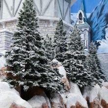 snowy pine christmas tree