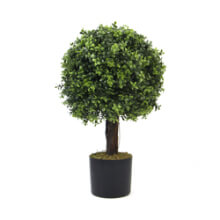 UV Resistant Artificial Boxwood Ball Trees in Pot