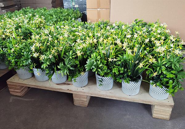 artificial potted plants wholesale